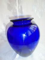 Art deco fújt, szakított üvegváza