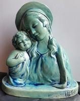 HEINDL tervezte Mária a kis Jézussal mérete18,5cm magas, máz le van pattanva hátul alul utolsó képek