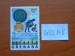 GRENADA 1/2 C 1976 A lányvezetők 50. évfordulója Grenadában S+ZS148