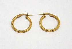 Vésett arany karika fülbevaló (ZAL-Au76773)