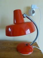 Extrém ritka kiváló állapotú szarvasi,ugró szarvasos,piros ipari lámpa,olvasó lámpa loft designe