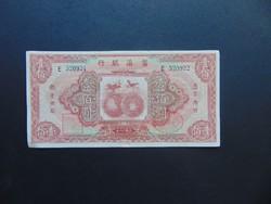 Kína NEW FU-TIEN BANK 100 dollár 1929 RITKA !!!