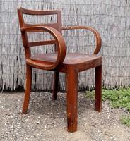 Kozma Lajos hajlított karfás szék