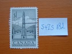 KANADA 1 $ 1953 Indán ház és Totem  S+ZS182