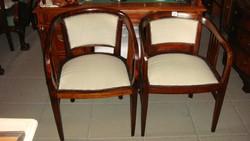 Art-decó szalon garnitúra,három darabos, felújított.