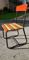 Retro,csővázas gyermek szék,kerti