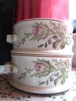 2 db régi porcelán ételhordó, komatál