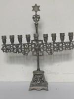 Antik judaika ezüst HANUKAI MENORA rosenau historizmus 235gr