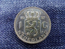 Hollandia I. Julianna (1948-1980) .720 ezüst 1 Gulden 1957/id 9470/