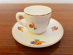 Régi Gránit kávés csésze pipacsos búzavirágos