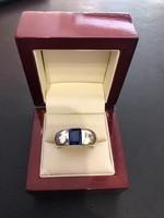 Art Deco ezüst gyűrű