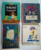 4 darab mesekönyv, 1955-1977, Weöres, József Attila stb..
