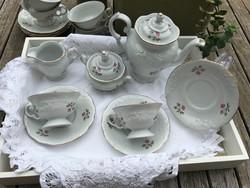 Barokkos kávés vagy teáskészlet 6 személyes