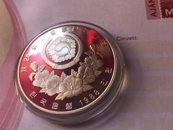 1986 Dél-Korea ezüst 10000 won 33,6 gramm 0,925 PP