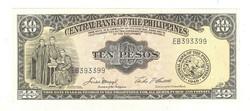 10 peso 1949 Fülöp-szigetek UNC