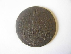 I. Ferenc 3 krajcár 1800.