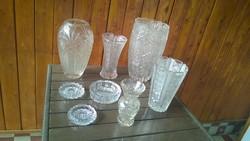 Akciós ár ! Ólomkristály váza,hamutartó a kristály fénykorából db-ra is !