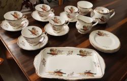 Sheriden Angol porcelán Fácános kávé és süteményes készlet