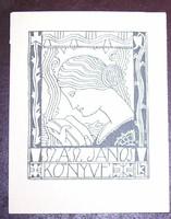 Kozma Lajos ex libris cinkográfia? szecesszió art nouveau Jugendstil