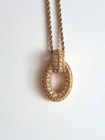 Christian Dior vintage aranyozott nyaklánc kristályberakásokkal