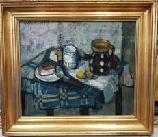 Garabuczy Ágnes (1936-): Reggeli csendélet 1960.