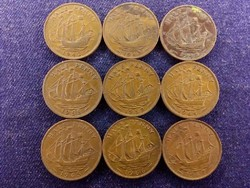 9 db angol half Penny, mind más év (id8900)