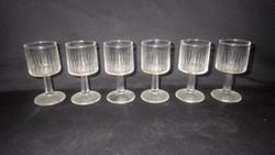 6 db talpas üveg pohár