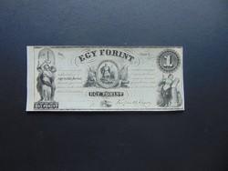 1 forint 1852 G Kossuth bankó Szép bankjegy !  02