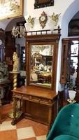 Ónémet antik konzolasztal tükörrel