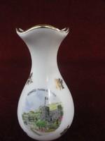 Limoges francia porcelán váza, 10 cm magas.