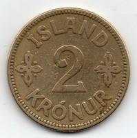 Izland dán fennhatóság 2 Korona, 1925HCNGJ, ritkább évszám
