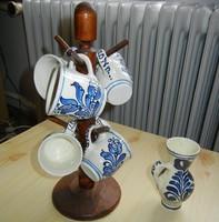 Korondi kerámia kávés készlet + váza