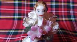 Apró mini porcelán hölgy figura