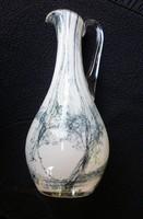 Dekoratív nagy üvegkancsó, üvegkiöntő