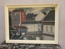 Nagy Ernő (1926-) - Budai utca részlet olajfestmény