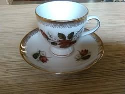 Nagyon szép Német Bavaria porcelán kávés csésze kistányéral