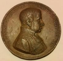 Konrad Lange 1846 József főherceg nádorságának 50.évfordulójára,V.Ferdinánd mellképével mérete:54mm