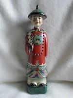 Kínai jelzett nagy porcelán szobor, 31 cm