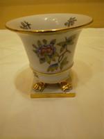 Herendi Viktória mintás porcelán körmös kaspó, váza