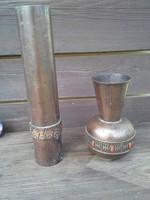 2 darab iparművész bronz váza