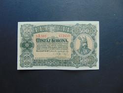 500 korona 1923 Magyar Pénzjegynyomda Rt. 02