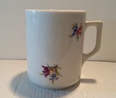 Régi Zsolnay porcelán virágos csésze bögre
