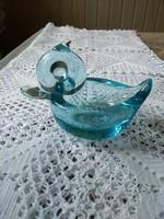 Kék üveg kacsa, gyűrű tartó