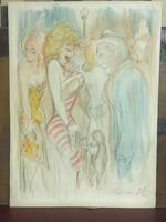 Vogel Eric  ( 1907-1996 ): ceruzarajz (egy színdarabhoz)