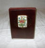 Herendi Mini Könyv Porcelán Siang-Noir Medalionnal Limitált 1000 darabos kiadás