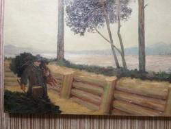 Festmény, Daday Gerő, 1916.