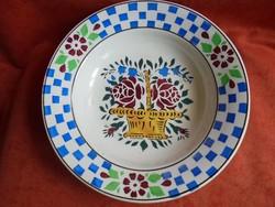 Virág kosaras Wilhelmsburgi porcelán falitányér