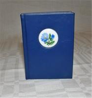 Herendi Mini Könyv Porcelán Búzavirág Medalionnal Limitált 500 darabos kiadás