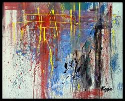 """""""Kapcsolódás"""" Koso festmény ,hatalmas  80 x 100 cm ,keretes akció"""