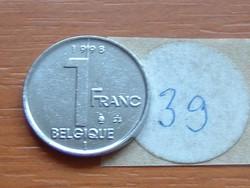 BELGIUM BELGIQUE 1 FRANK 1998 39.